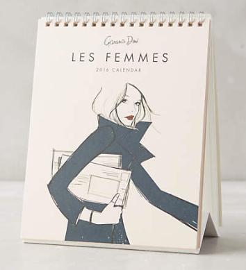 Les Femmes Desk Calendar - $18