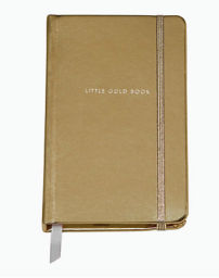 Take Note Little Gold Book Medium Notebook - $18