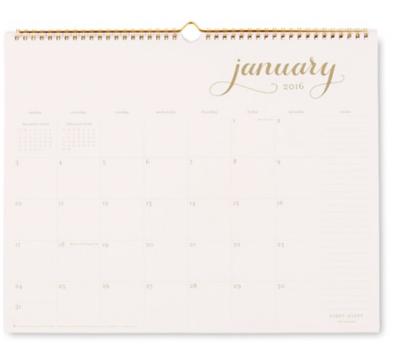 Sugar Paper Calendar - $9.99